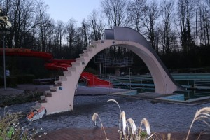 Aktivitäten  FVFNB 2016 Demontage Kinderrutsche Freibad Neubeckum 12