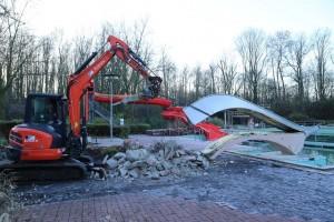 Aktivitäten  FVFNB 2016 Demontage Kinderrutsche Freibad Neubeckum 3